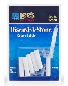 Lee's Pet Products 6-Pack Discard a Stone Disposable Air Diffuser for Aquarium Pump