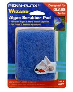 "Penn Plax Wizard Algae Scrubber Pad For Glass Tanks 3""x4"""