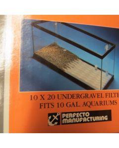Perfect-A-Flo Undergravel Fish Aquarium Filter 10 x 20 for 10 Gallon Aquariums