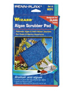 "Penn Plax Wizard Algae Scrubber Pad For Glass Tanks 6""x9"""