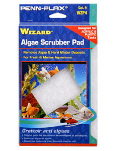 "Penn Plax Wizard Algae Scrubber Pad For Acrylic & Plastic Tanks 6""x9"""